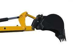 Máquina escavadora do escavador isolada sobre o branco Fotografia de Stock