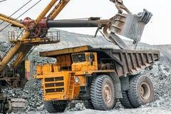 Máquina escavadora do trabalho Foto de Stock