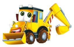 Máquina escavadora dos desenhos animados Imagens de Stock