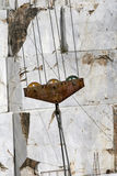 Máquina escavadora e escadaria de mármore Imagens de Stock Royalty Free