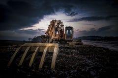 Máquina escavadora hidráulica Imagens de Stock Royalty Free