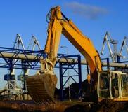 Máquina escavadora hidráulica no trabalho imagem de stock royalty free