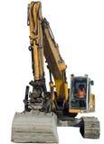 Máquina escavadora isolada, trator Tallinn Fotografia de Stock Royalty Free