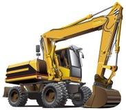 Máquina escavadora Light-brown Imagem de Stock