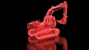 Máquina escavadora Mesh ilustração do vetor