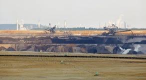 Máquina escavadora In Mine Panorama da Cubeta-roda imagens de stock