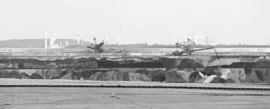 Máquina escavadora In Mine Panorama da Cubeta-roda fotos de stock royalty free
