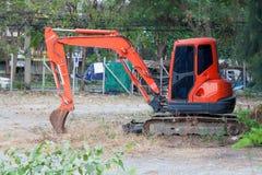 Máquina escavadora mini Foto de Stock Royalty Free