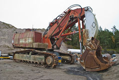 Máquina escavadora monstruoso da esteira rolante, ângulo 2 Fotos de Stock Royalty Free