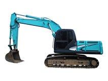 Máquina escavadora no fundo branco Foto de Stock