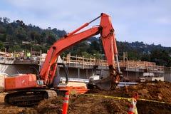 Máquina escavadora no trabalho Imagens de Stock Royalty Free