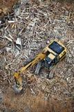 Máquina escavadora ou edifício arruinado Fotografia de Stock