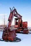 Máquina escavadora oxidada fotografia de stock