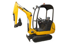 Máquina escavadora pequena Imagens de Stock Royalty Free