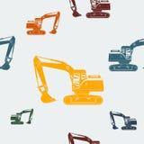 Máquina escavadora Seamless Pattern Fotografia de Stock