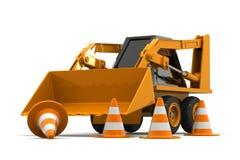 Máquina escavadora Under Construction Fotos de Stock Royalty Free