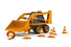 Máquina escavadora Under Construction Imagens de Stock
