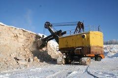Máquina escavadora velha da mineração Fotos de Stock