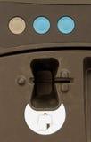 Máquina expendedora con el programa de lectura de la tarjeta magnética Imagen de archivo