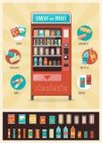 Máquina expendedora del vintage ilustración del vector