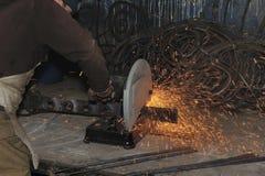 Máquina ferramenta da máquina das ferramentas de potência que lasca o giro Foto de Stock
