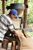 Máquina hulling do café Imagem de Stock