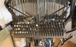 Máquina impressora velha do offset foto de stock