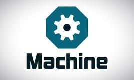 Máquina - indústria - logotipo Fotografia de Stock