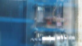 Máquina industrial com brocas Processo de manufatura metalúrgico vídeos de arquivo