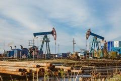 Máquina industrial de la energía del aparejo de la bomba de aceite para el petróleo Foto de archivo libre de regalías