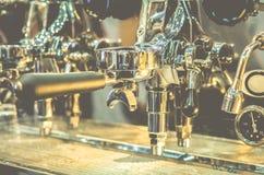 Máquina-instrumento do café do café automática Foto de Stock Royalty Free