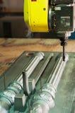 A máquina-instrumento para o processamento da árvore Fotografia de Stock Royalty Free