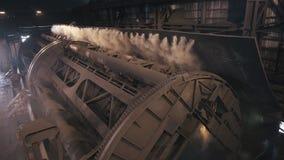 Máquina 4K do monstro o carro de estrada de ferro vira vídeos de arquivo