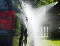 Máquina limpia de Washington del coche, colada de coche con la esponja y manguito Imagen de archivo