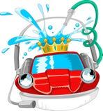 Máquina limpia de Washington del coche, colada de coche con la esponja y manguito ilustración del vector