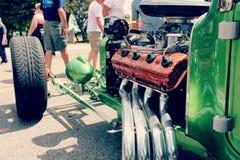 Máquina mala verde Imagenes de archivo