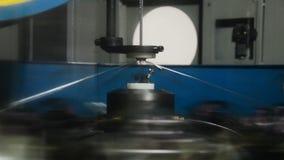 Máquina moderna da trança video estoque