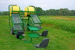 Máquina orgánica de la repicadora de la granja Foto de archivo libre de regalías