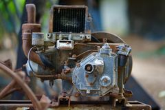 Máquina oxidada en estilo retro imagen de archivo