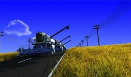 Máquina para cosechar Foto de archivo