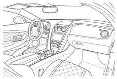 Máquina para dentro interior do veículo Imagens de Stock Royalty Free