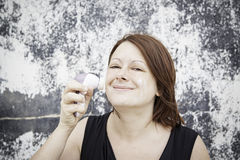 Máquina para la crema de cara Foto de archivo libre de regalías