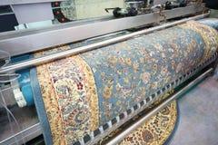 Máquina para las alfombras de limpieza Imágenes de archivo libres de regalías