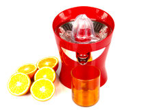 Máquina para o sumo de laranja Fotos de Stock Royalty Free