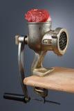 Máquina para picar carne Imágenes de archivo libres de regalías