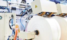 Máquina para a produção de sacos de plástico fotografia de stock royalty free