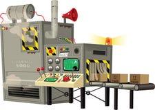 Máquina produciendo mercancías Ilustración del Vector