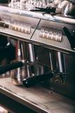 Máquina profissional do café Fotos de Stock Royalty Free