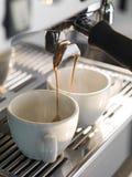 Máquina profissional do café Fotografia de Stock Royalty Free
