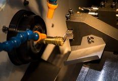 Máquina que tornea del CNC Foto de archivo